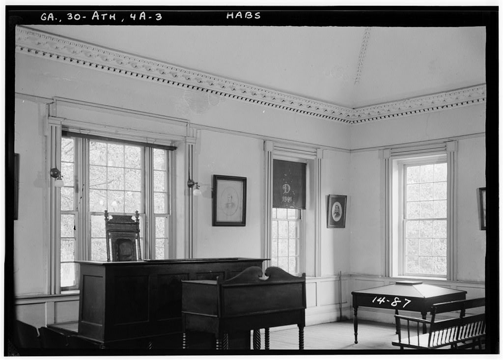 Earliest photograph of seating in the upper chamber
